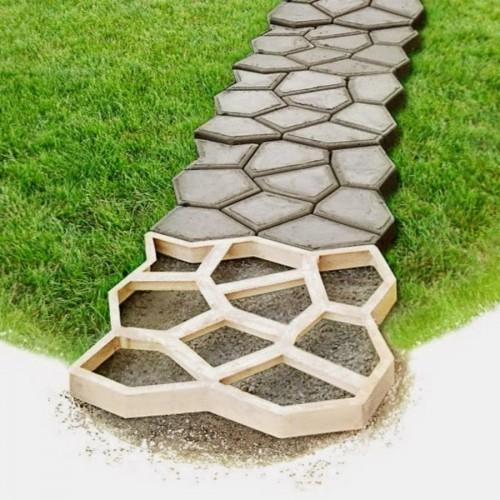 Садовая дорожка из бетона своими руками